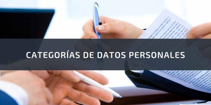 categorias de datos personales