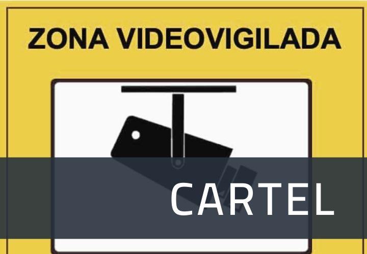 como rellenar el cartel de videovigilancia