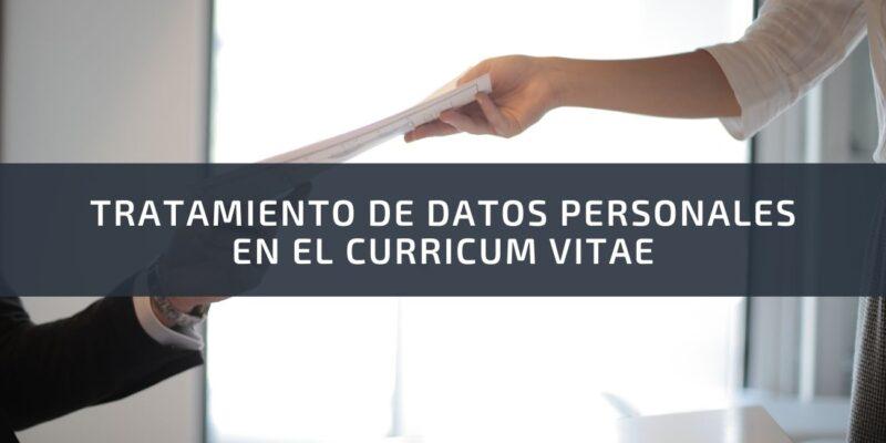Tratamiento de datos personales en el curriculum vitae